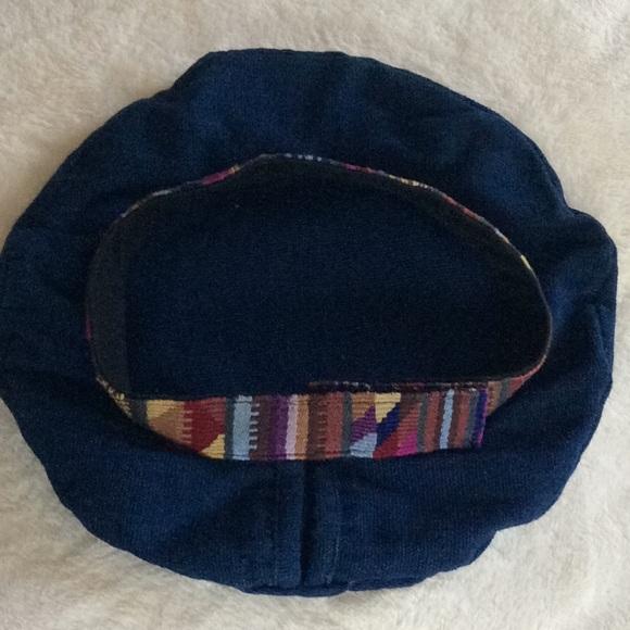 Festival Hat Indigo Blue with Ethnic Woven Band